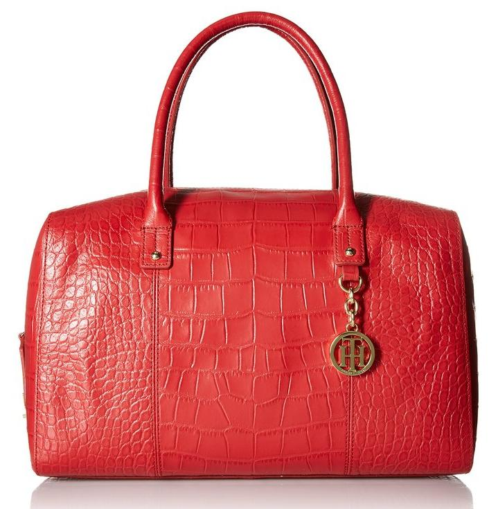 Tommy Hilfiger Faye Croco Duffle Shoulder Bag