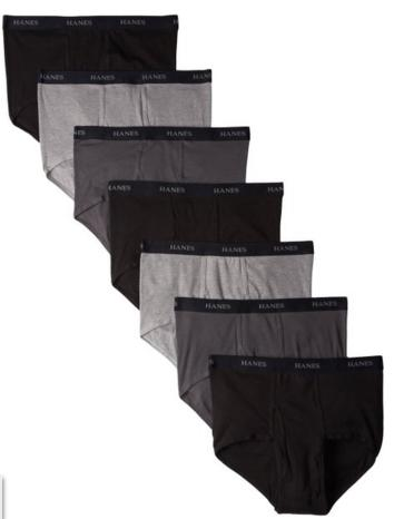Hanes Men's 7 Pack Ultimate Full-Cut Briefs