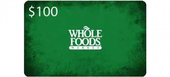 FREE $20 Gift Cardwith Purchase of $100 Whole Foods Gift Card