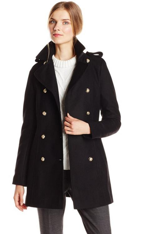 Via Spiga Women's Double-Breasted Military Wool-Blend Coat