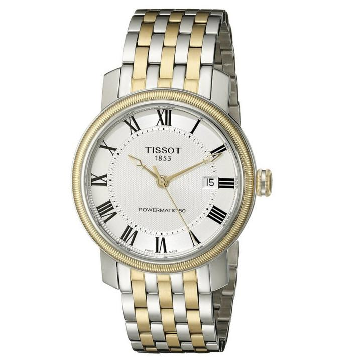 Lowest price! Tissot Men's T0974072203300 Bridgeport Analog Display Swiss Automatic Two Tone Watch