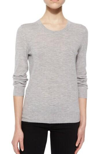 Burberry Brit Long-Sleeve Cashmere Sweater @ Neiman Marcus