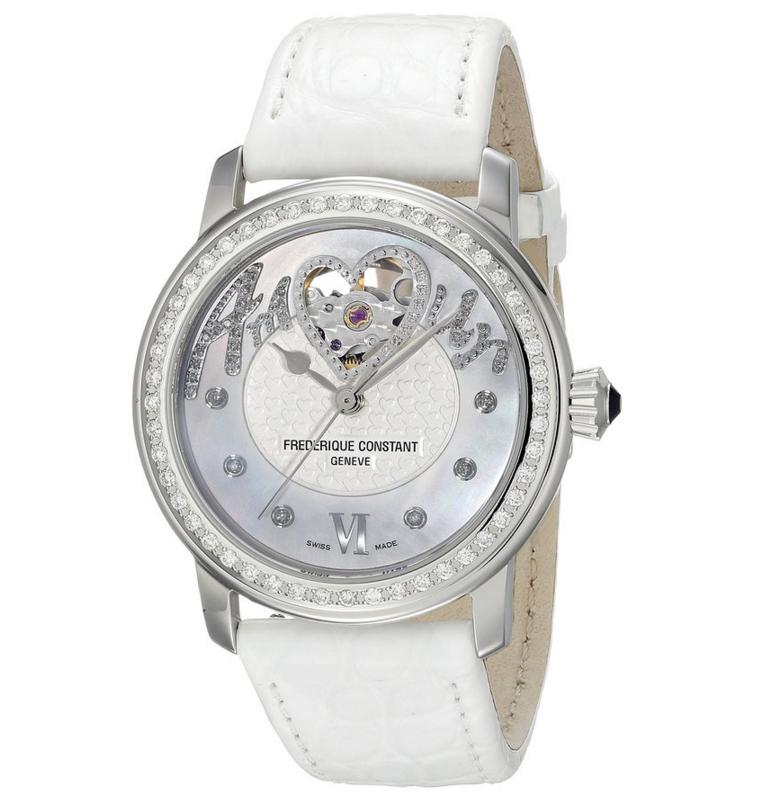 Lowest price! Frederique Constant Women's Heart beat Swiss Quartz White Watch