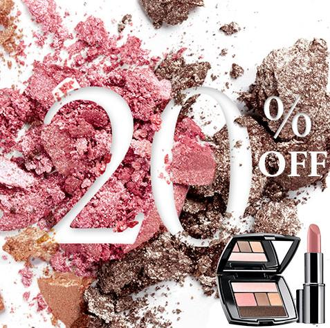 20% Off + 2 deluxe samples on ANY order @ Lancome