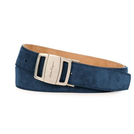 Salvatore Ferragamo	 Sardegna Adjustable Belt, Blue @ Neiman Marcus