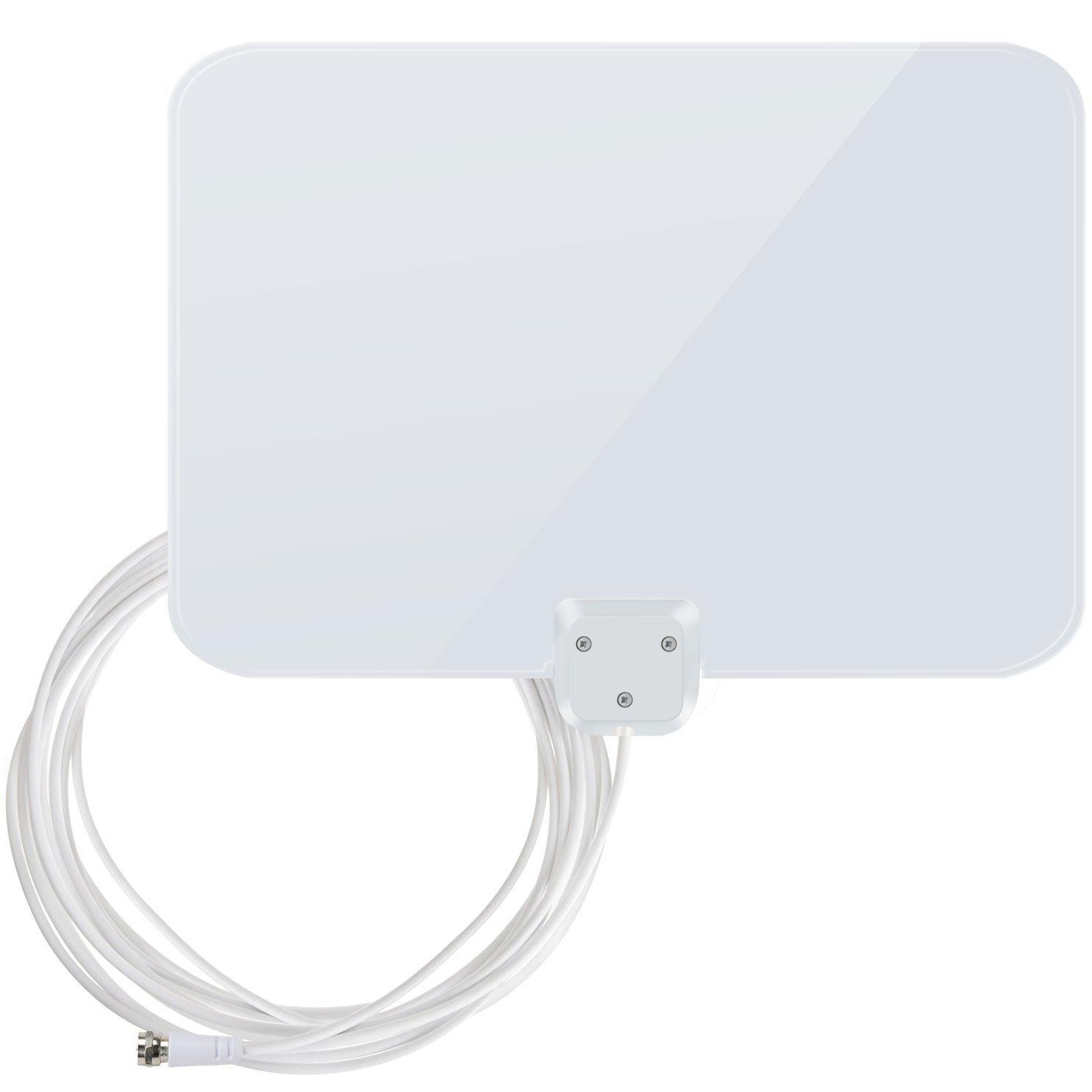 1byone Shiny Antenna Super Thin Amplified HDTV Antenna 50 Miles Range