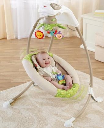 $77.45 Fisher-Price Deluxe Cradle 'n Swing, Rainforest Friends