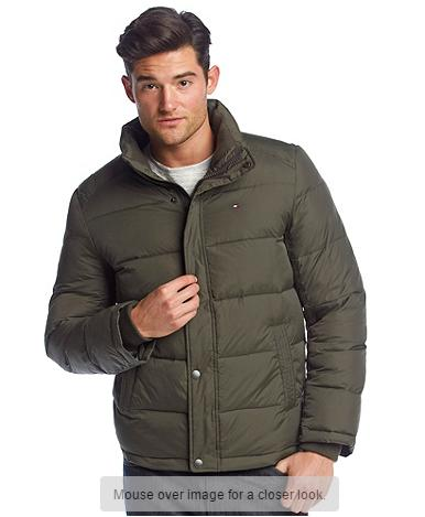 Tommy Hilfiger Men's Puffer Jacket With Standing Collar