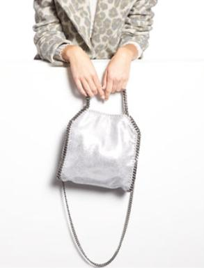 Stella McCartney Falabella Mini Tote Bag, Silver