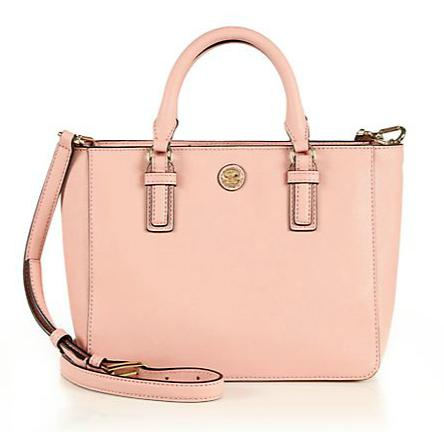$315 Tory Burch Robinson Tiny Saffiano Leather Tote