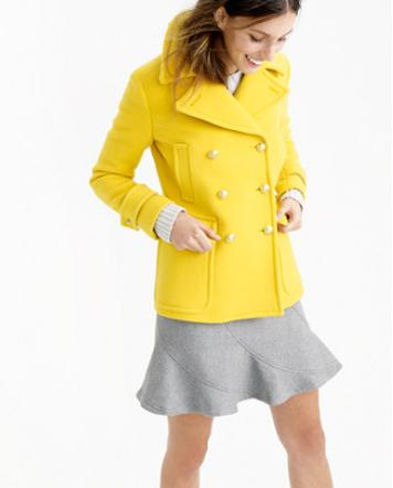 PETITE STADIUM-CLOTH MAJESTY PEACOAT On Sale @ J.Crew