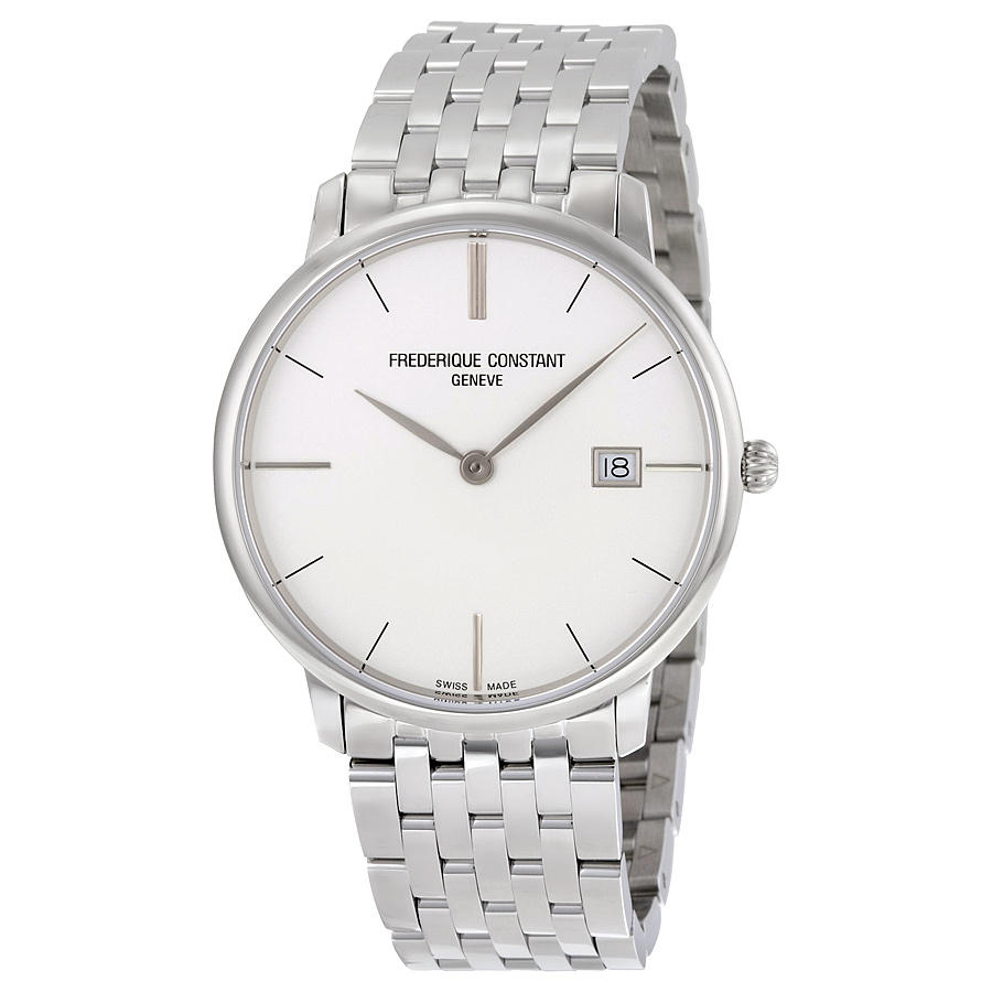 FREDERIQUE CONSTANT Slimline Silver Dial Stainless Steel Men's Watch