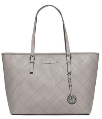 MICHAEL Michael Kors  Jet Set Travel Zip-Top Quilted Saffiano Tote Bag