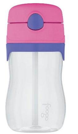 THERMOS FOOGO 11-Ounce Straw Bottle, Pink/Purple