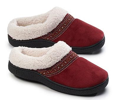 Isotoner Signature® Microsuede Sherpasoft Hoodback Slippers