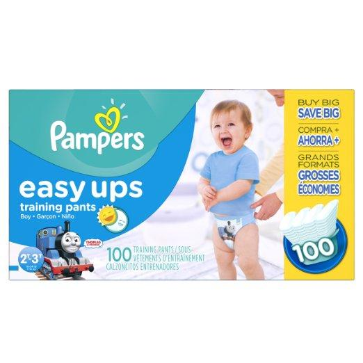 $13 Pampers Easy Ups Training Pants Diapers for Boys, Value Pack, Size 2T3T, 100 Count