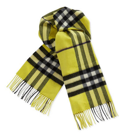 Burberry Cashmere Giant Icon Scarf, Vibrant Yellow