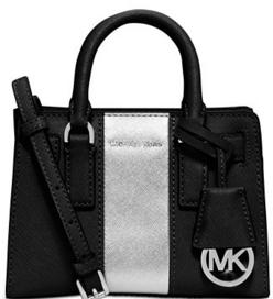 MICHAEL Michael Kors Dillon Stripe Mini Top Zip Crossbody @ macys.com