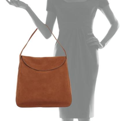 Prada Suede Doubled Flap-Top Medium Hobo Bag, Brown (Cacao) @ Neiman Marcus