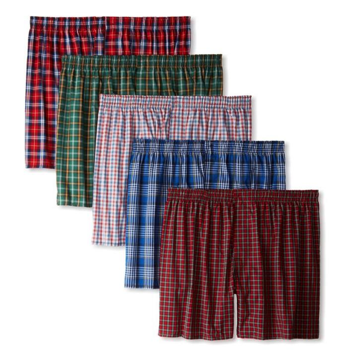 $9.96 Hanes Men's 5 Pack Ultimate Tartan Boxers