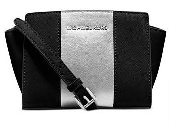 Michael Kors Selma Stripe Mini Messenger @ macys.com
