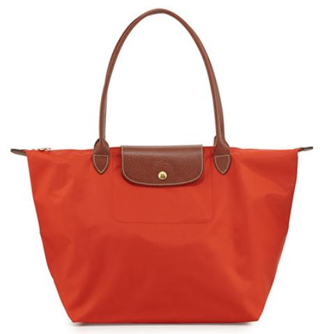 Longchamp Tote - Le Pliage Large Shoulder, Poppy