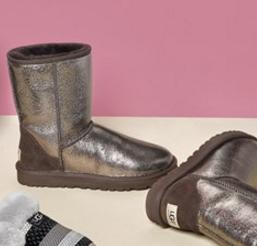 UGG® Australia 'Classic Short - Metallic' Boot