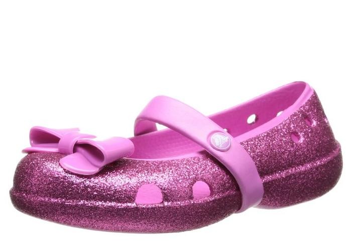 From $12.81 Crocs Girls' Keeley Hi-Glitter Bow Flat PS @ Amazon