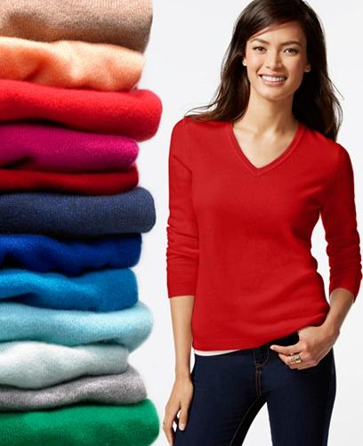 From $39.99 Charter Club Cashmere Sweater @ macys.com