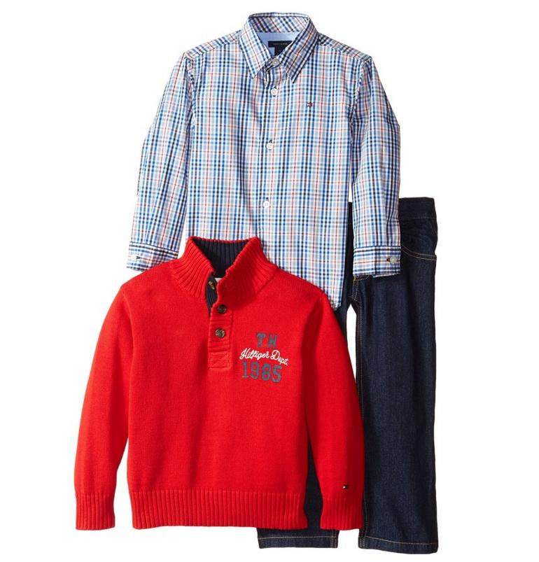 Tommy Hilfiger Little Boys' Carmine 3 Piece Coordinated Set, Bulls Eye