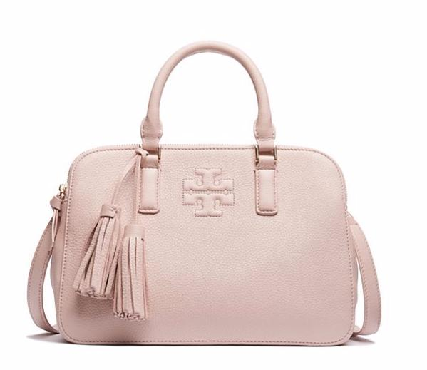 THEA SMALL ROUNDED DOUBLE-ZIP SATCHEL @ Tory Burch