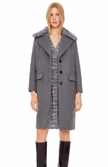 Tory Burch WOOL & CASHMERE COCOON COAT