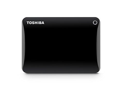 Toshiba Canvio Connect II 2TB Portable Hard Drive, Black(HDTC820XK3C1)