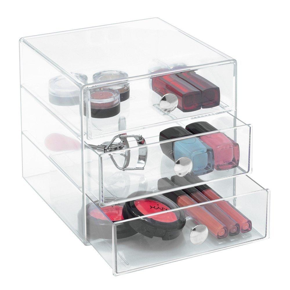 InterDesign 3 Drawer Storage Organizer, Clear