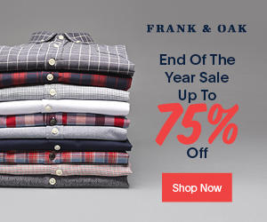 Up to 75% Off End of Year Sale at Frank & Oak