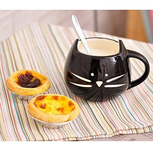 Artpot Ceramic Cup Cute Little Black Cat Coffee Cup Tea Milk Ceramic Mug Cup Cat Cup 350ml