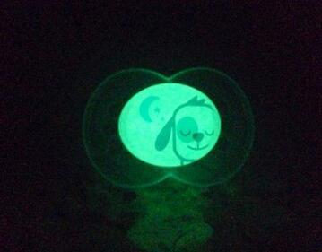 MAM Night Glow in the Dark Silicone Pacifier, Boy, 6 Plus Months, 2-Count