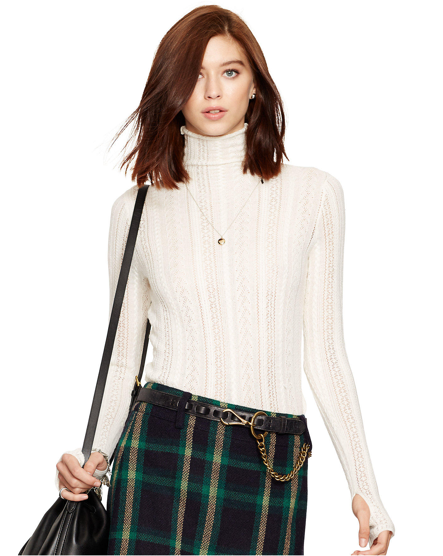 Ralph Lauren Turtleneck Pointelle Sweater