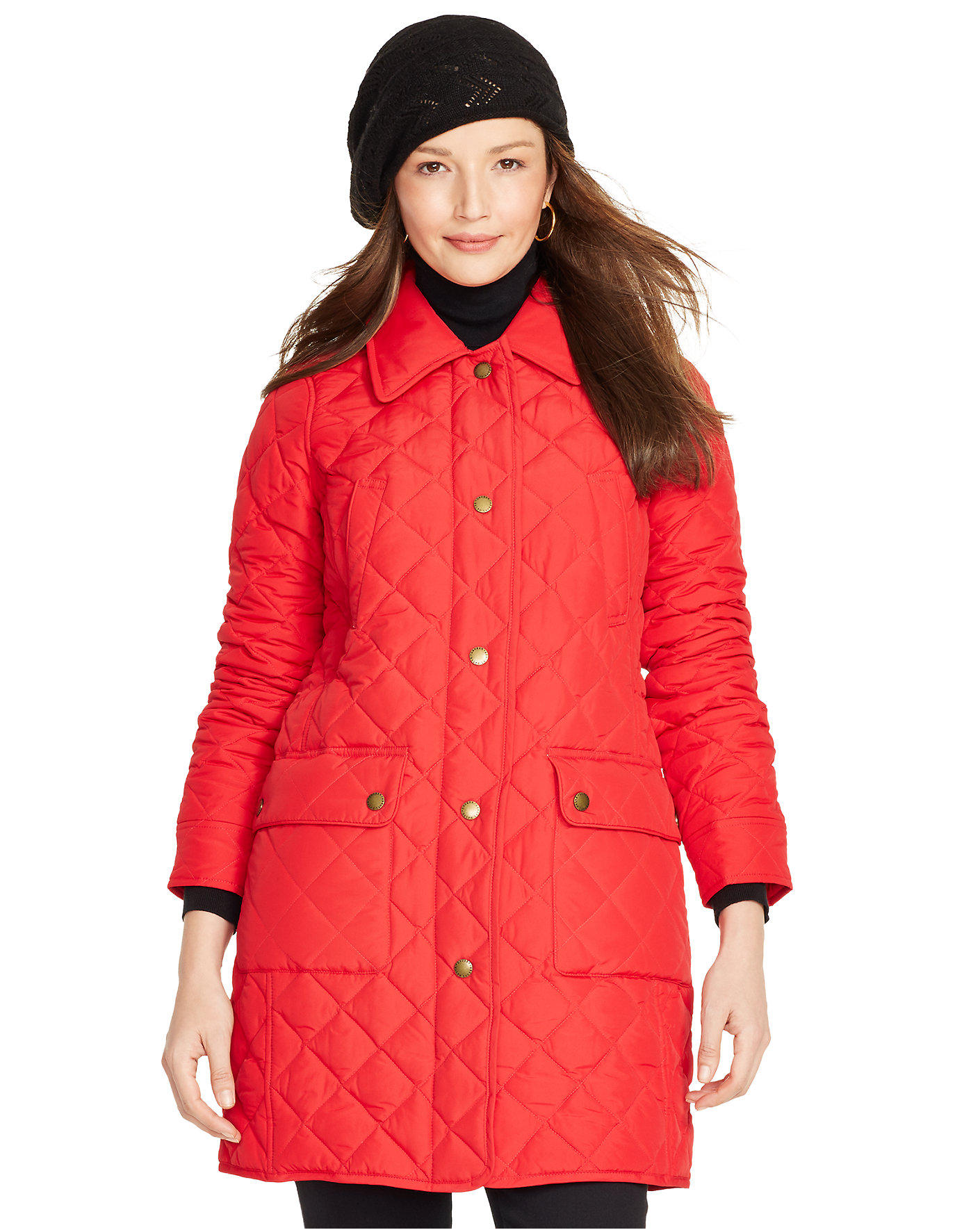 Ralph Lauren Diamond-Quilted Full-Zip Coat