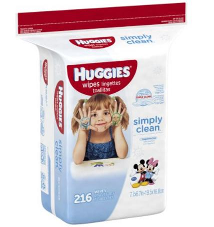 $8.32 Huggies Simply Clean Baby Wipes, Unscented, Refill, 648 Ct @ Amazon