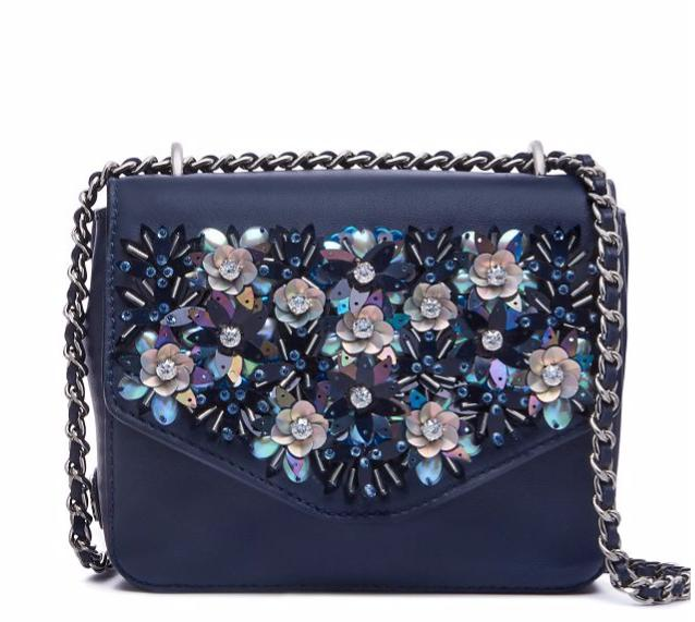 KIRA EMBELLISHED MINI CHAIN CROSS-BODY @ Tory Burch