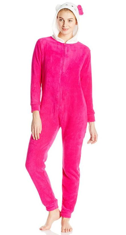 Hello Kitty Women's Bodysuit with Kitty Hood @ Amazon