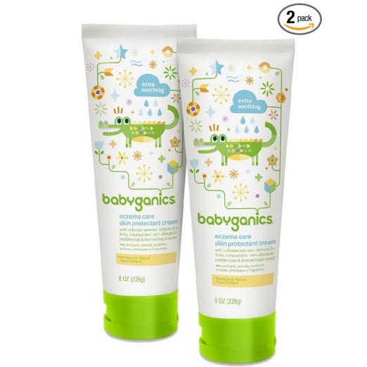 $12.21 Babyganics Eczema Care Skin Protectant Cream, 8 oz Tube (Pack of 2)