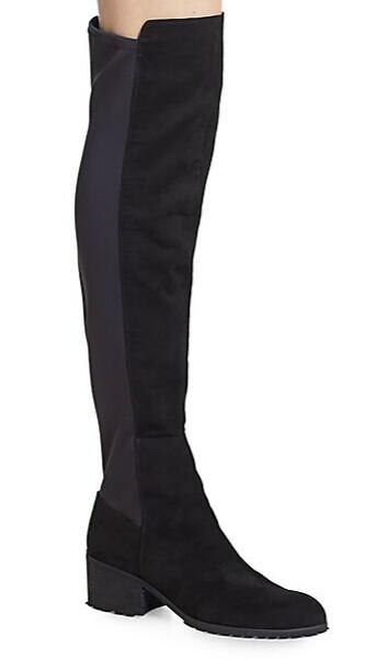 Charles By Charles David Rose Black Suede-Blend Boots @ Saks Off 5th