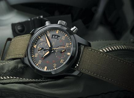 IWC Pilots Anthracite Dial Chronograph Ceramic and Titanium Men's Watch IW388002
