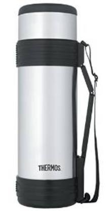Thermos 61 Ounce Vacuum Insulated Beverage Bottle with Folding Handle