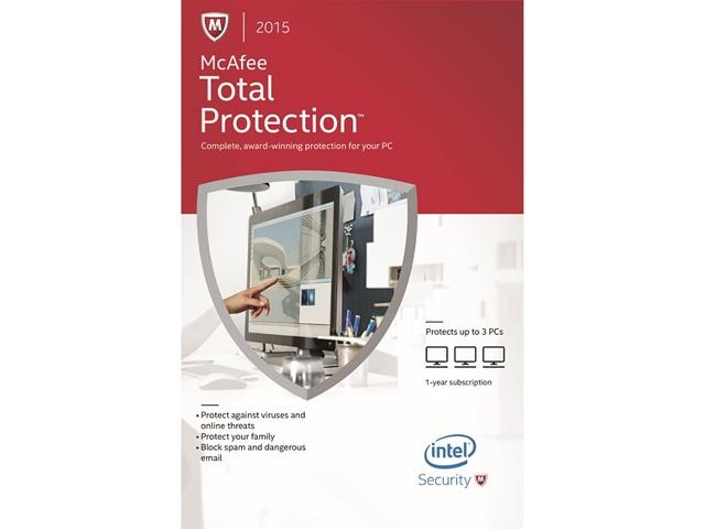 $4.99 McAfee Total Protection 2015 - 3 PCs
