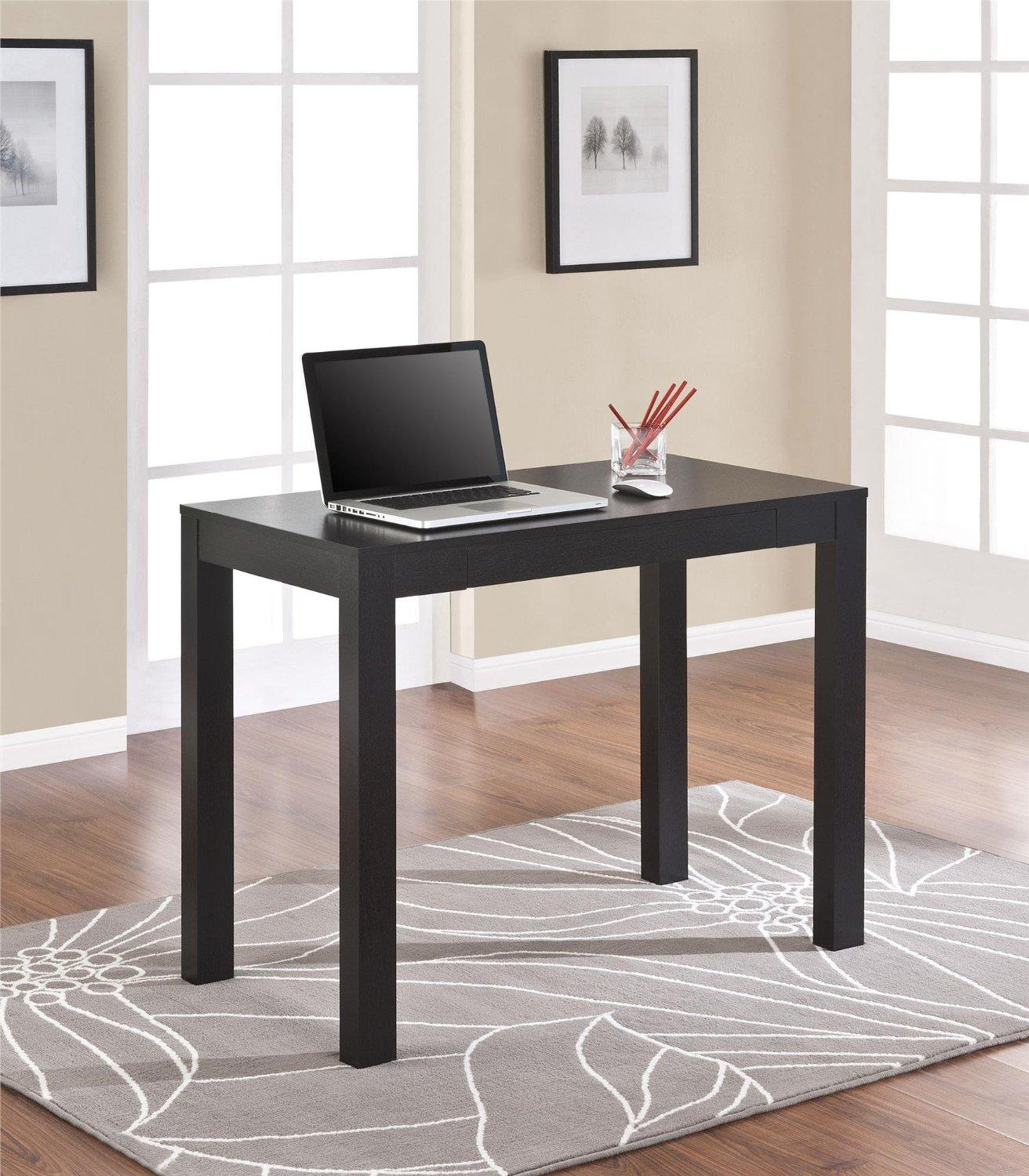 $49.00 Altra Parsons Desk, Black Oak