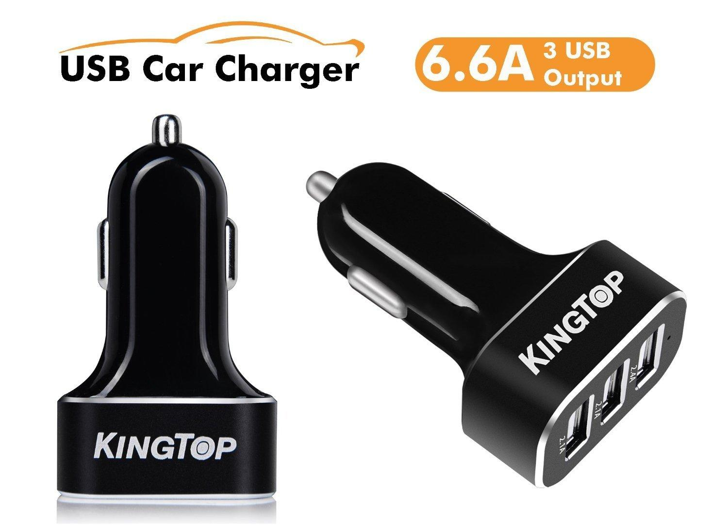 Kingtop 3 Port USB Car Charger