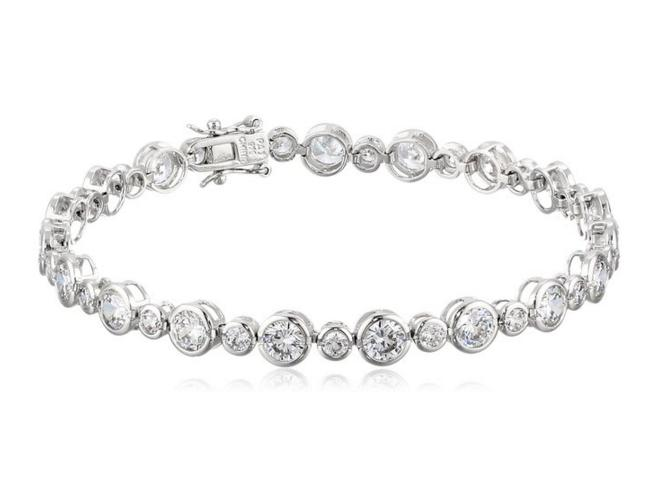 Sterling Silver Cubic Zirconia Round Tennis Bracelet